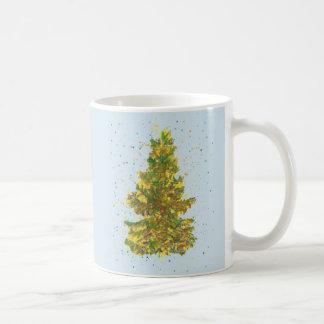 Taza con árbol de navidad handgemaltem viejo con