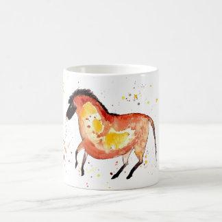 Taza con caballo handgemaltem viejo con acuerdo de