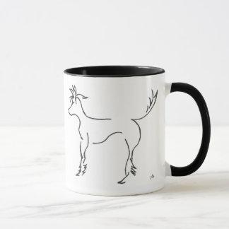 taza con cresta china del dibujo lineal
