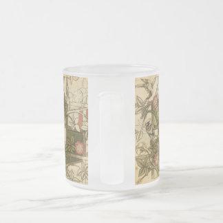 Taza con diseño del enrejado de William Morris