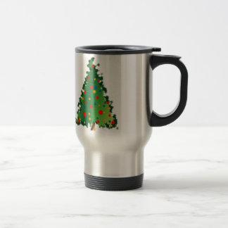 Taza con la decoración del árbol de navidad