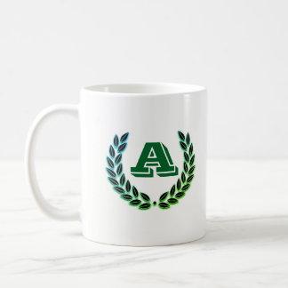 taza con la inicial A