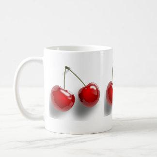 Taza con las cerezas