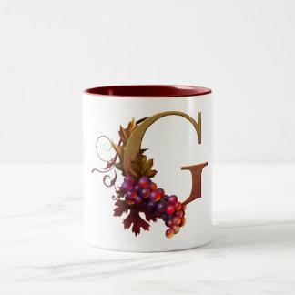 """Taza con monograma """"G """" del """"ARS Botanica"""" de"""