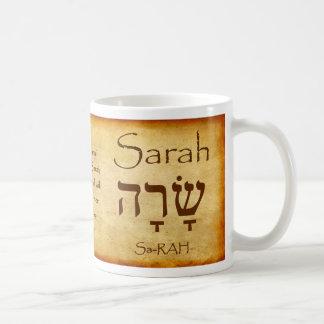Taza conocida hebrea de SARAH