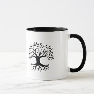 Taza cristiana del árbol de la beca de las nuevas