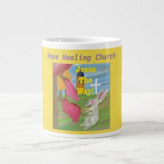 Taza curativa de la taza de café del conejito de