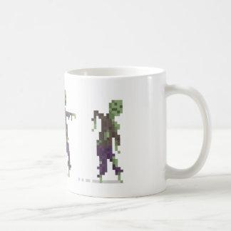Taza de 8 bits del arte del pixel del zombi