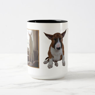 Taza de bull terrier del inglés