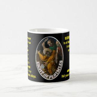 Taza De Café 08. Ocho de los pentáculos - tarot del marinero