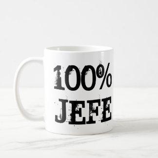 TAZA DE CAFÉ 100% JEFE