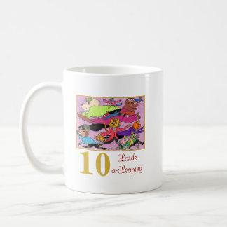 Taza De Café 10 señores animales lindos y tipografía de un