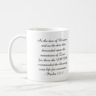 Taza De Café 133:3 del salmo