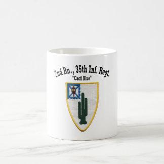 """Taza De Café 2do Batallón, 35tos Inf """"taza del azul de los"""