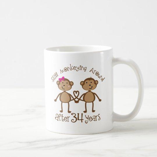Taza De Café 34tos regalos divertidos del aniversario de boda