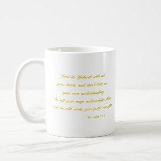 Taza De Café 3:5 de los proverbios - amarillo del verso el | de