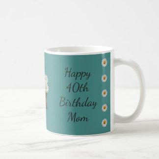 Taza De Café 40.a mamá feliz del cumpleaños