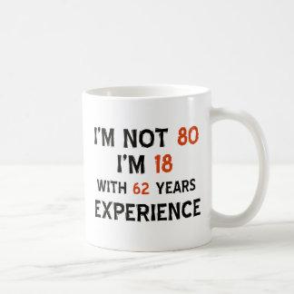 Taza De Café 80.os diseños del cumpleaños