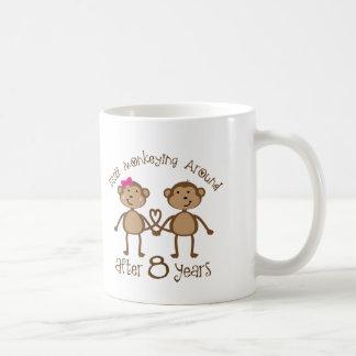 Taza De Café 8vos regalos divertidos del aniversario de boda