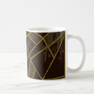 Taza De Café #941 abstracto Brown