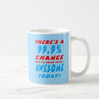 Taza De Café 99,9% El IR A SER IMPRESIONANTE (blanco)