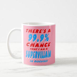 Taza De Café 99,9% Soy un MALVADO ESTUPENDO (blanco)