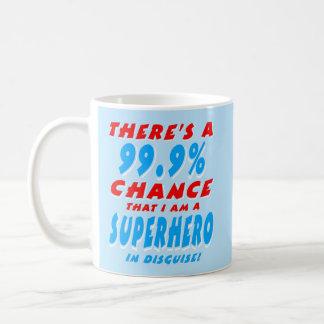 Taza De Café 99,9% Soy un SUPER HÉROE (blanco)