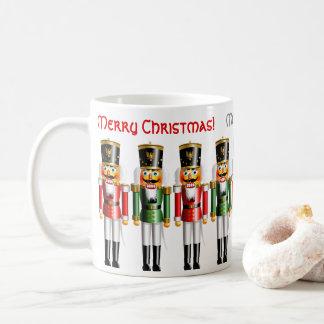 Taza De Café 9 cascanueces rojos y verdes divertidos de Navidad