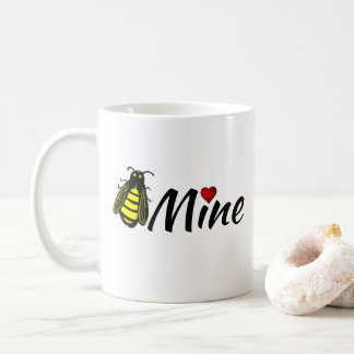 Taza De Café Abeja linda de la mina de la abeja con la tarjeta