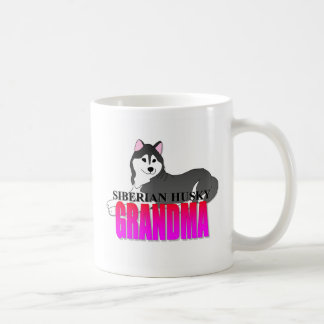 Taza De Café Abuela del perro del husky siberiano