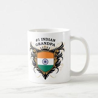 Taza De Café Abuelo indio del número uno