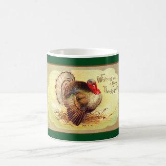 Taza De Café Acción de gracias Turquía del vintage