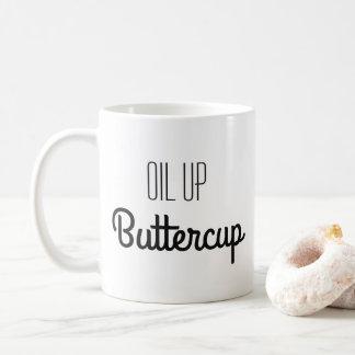 Taza De Café Aceite encima del ranúnculo
