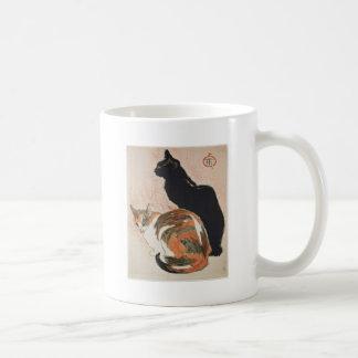 Taza De Café Acuarela - 2 gatos - Théophile Alejandro Steinlen