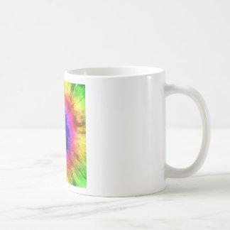 Taza De Café Acuarela del teñido anudado de Starburst