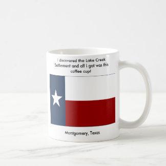 Taza De Café Acuerdo de la cala del lago - Montgomery, Tejas