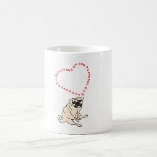 Taza de café adaptable del barro amasado del amor