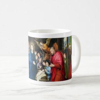 Taza De Café Adoración del ~ Hugo van der Goes de los pastores