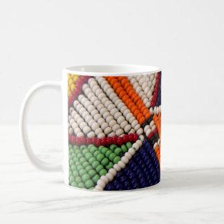Taza De Café África, Kenia. Gotas tribales de Maasai