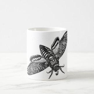 Taza De Café Aguafuerte zoológica clásica - polilla de la