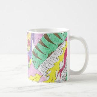 Taza de café al azar de los pensamientos