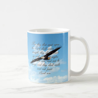 Taza De Café Alas como Eagles, biblia del cristiano del 40:31