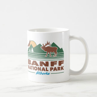 Taza De Café Alces del parque nacional de Banff