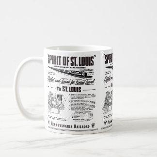 Taza De Café Alcohol de PRR Streamliner de St. Louis