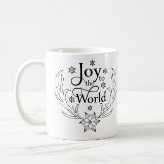 Taza De Café Alegría cristiana del navidad al mundo