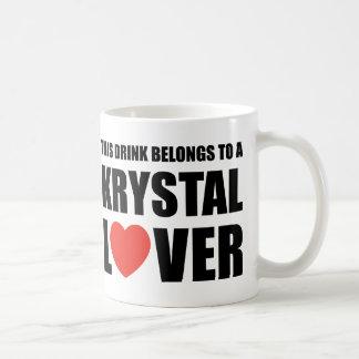 Taza De Café Amante de Krystal