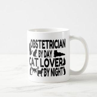 Taza De Café Amante del gato del obstétrico