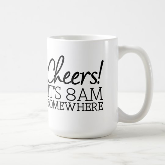 Taza De Café ¡Amante divertido del café - alegrías! Es 8am en