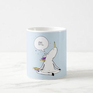 Taza De Café Amante divertido del unicornio de la yoga del