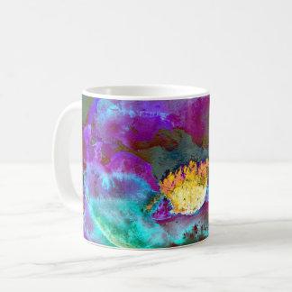 Taza De Café Amapola púrpura de medianoche